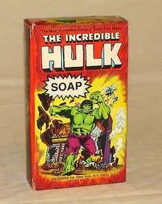 Vintage Marvel The Incredible Hulk Figural Soap by Oh Dawn! 1979 4.75 inch MIB