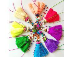Tassel Keychain Purse Charm BOHO Purse Swag Assorted Colors Long Tassel Swag…