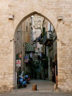 Arch in Old Bari, Puglia Italy