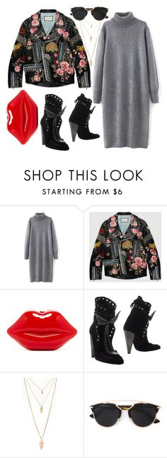 """""""Untitled #1793"""" by itsmeischoice on Polyvore featuring Gucci, Isabel Marant, Forever 21, Christian Dior, women's clothing, women, female, woman, misses and juniors"""