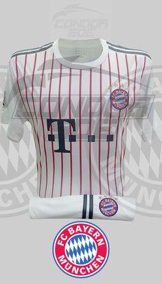 Excelente indumentaria de juego y entrenamiento del grande del fútbol Alemán, Bayer Múnich FC. #uniformes #camisetas #fútbol #bayermunich Bayer Munich Fc, Grande, Tops, Fashion, Game, Training, T Shirts, Sports, Moda