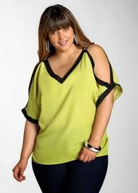 Ashley stewart: cold shoulder blouse plus size top Big Girl Fashion, Curvy Fashion, Love Fashion, Plus Size Fashion, Womens Fashion, Look Plus Size, Plus Size Tops, Plus Size Women, Chemises Sexy