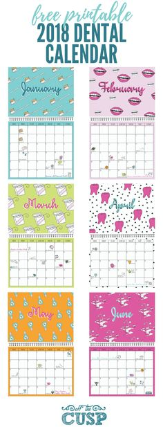 Each month of this free calendar features a different eye-catching design, standard observances like Memorial Day and Daylight Savings Time reminders, as well as amusing celebrations like Improve Your Office Day and Root Canal Appreciation Day!
