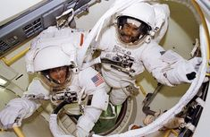 Feb. 9 1995 Bernard Harris and Michael Foale Ready For a Spacewalk Nasa Image of the Day: February 09 2016