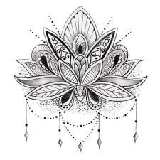 Image result for lotus tattoo on scalp