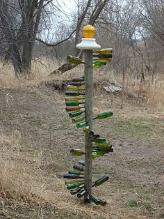 i love this but i'm thinking a double helix and angling the bottles more upward