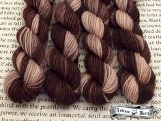 Parisian Chocolate Mini Skein / Fingering Weight / 75/25 Superwash Wool Nylon Blend Sock Yarn by AstraeaMeris on Etsy