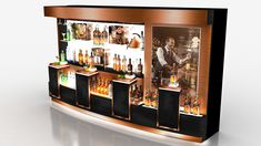 KetelOne Stand- Display-Bar Design on Behance Wine Shelves, Bar Displays, Wine Display, Point Of Purchase, Display Design, Liquor Cabinet, Alcoholic Drinks, Concept, Pos