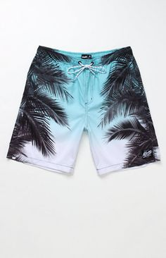 Neff comes with a fresh take on the palm tree feel with these men's boardshorts. The Forever Fresh Boardshorts features a bright gradient body with a palm tree print on the sides. Allover multi color print boardshorts Neff logo on knee Velcro back pocket Reinforced tie waist, spandex fly Machine washable