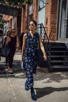 September 12, 2016  Tags Black, Sunglasses, Caroline Issa, Blue, Boots, Women, Prints, Florals, High Heels, Dresses, Bracelets, Watches, New York, Velvet, 1 Person, SS17 Women's