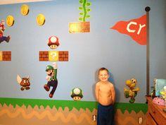 Super Mario brothers room Super Mario Brothers, Mario Bros, Super Mario Room, Brothers Room, Bedroom Ideas, Bedroom Decor, Old Love, Kid Rooms, Little People