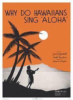 Why Do Hawaiians Sing Aloha, sheet music cover by LaSalle. Ca. 1936.