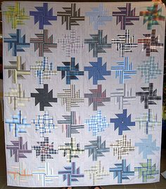 Sensational handmade quilts - take a peek at our guide for a whole lot more recommendations! Flannel Quilts, Plaid Quilt, Scrappy Quilts, Shirt Quilts, Antique Quilts, Vintage Quilts, String Quilts, Modern Quilt Patterns, Book Quilt