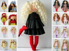 Handmade doll Tilda doll Interior doll Soft by AnnKirillartPlace