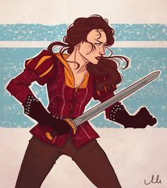 Once Upon A Time-Warrior Belle (possible spoilers) by ~ThatMadGray on deviantART Rumpelstiltskin, Shield Maiden, Medieval Fantasy, Female Characters, Movie Characters, Dragon Age, Ouat, Art Sketchbook, Disney Art