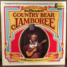 Walt Disney World's Country Bear Jamboree Vinyl LP 1972 Disneyland Illustrated…