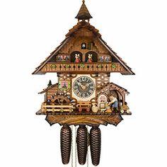 Chalet-Kuckucksuhren Kuckucksuhr 8-Tages-Uhrwerk Chalet-Stil 47cm von Hönes