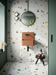 Bathroom Trends, Bathroom Interior, Modern Bathroom, Bathroom Ideas, Small Bathroom, Bathroom Inspo, Bathroom Colors, Bathroom Styling, Terrazzo