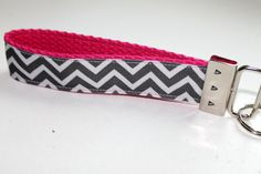 Chevron Key Fob Key Chain Wrislet Pink and Grey by tuteesribbon, $3.50  https://www.etsy.com/listing/117721553/chevron-key-fob-key-chain-wrislet-pink?ref=sr_gallery_17&ga_order=date_desc&ga_view_type=gallery&ga_ref=fp_recent_more&ga_page=55&ga_search_type=all