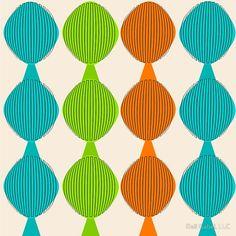 Mid-Century Inspired Ovals by Gail Gabel, LLC