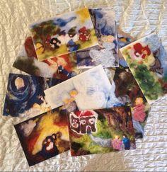 Cartoline dei miei quadri di CreazioniMonica su Etsy