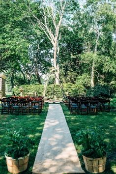 Wedding Ceremony, Private Residence, Flowers by: Ivy League Flowers and Gifts, Photo: Golden Hour Studios - New York Wedding http://caratsandcake.com/emilyandblayne