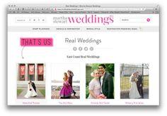 HUGE NEWS! MARTHA STEWART HEARTS OUR WEDDING! | the obsessive imagist