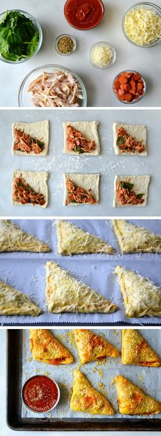 Cheesy Chicken Pizza Pockets are the ultimate simple, cheesy . - Cheesy Chicken Pizza Pockets are the ultimate simple, cheesy … – the - Appetizer Recipes, Dinner Recipes, Appetizers, Dessert Recipes, Comida Diy, Cooking Recipes, Healthy Recipes, Amish Recipes, Dutch Recipes