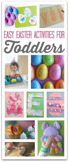 If you are looking for some great toddler Easter activities, we've found some of the best ones around. Easter Ideas for Toddlers - crafts and activities - fun and easy Easter ideas for 1 year olds, 2 year olds and 3 year olds Easter Activities For Toddlers, Easter Crafts For Kids, Holiday Activities, Toddler Crafts, Holiday Crafts, Holiday Fun, Easter Games, Reading Activities, Spring Crafts