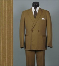 Vintage 1960s Mens Fashions  Harvest Gold by jauntyrooster on Etsy, $125.00