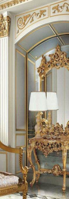 Leo Dowell Interiors — Do you have any alcoves or niches in your house? Gold Interior, Luxury Homes Interior, Interior Exterior, French Furniture, Luxury Furniture, Furniture Design, Beautiful Home Gardens, Beautiful Homes, Luxury Life