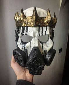 Skull King gas mask – Leather mask - To Have a Nice Day Character Inspiration, Character Design, Armadura Cosplay, Creation Art, Skull Mask, Skull Helmet, Leather Mask, Masks Art, Maquillage Halloween