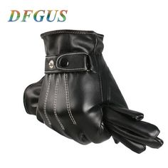 Perman Mens Luxurious PU Leather Winter Super Driving Warm Gloves Cashmere Vogue
