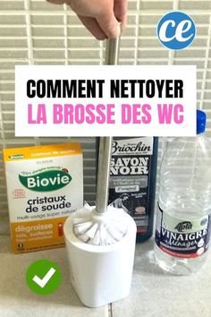 Comment Nettoyer Et Désinfecter La Brosse Des WC Sans javel ? LAstuce Facile Et Rapide Cleaning Companies, Cleaning Hacks, Green Cleaning, Spring Cleaning, Natural Disinfectant, Toilet Storage, Homemade Cleaning Products, Clean Dishwasher, Tips & Tricks