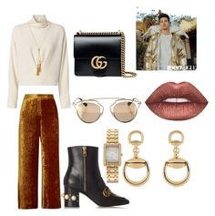 """""""A photoshoot with Cameron"""" by arianas12 ❤ liked on Polyvore featuring A.L.C., Gucci, IRO, Chloé, Chaps, Christian Dior and Lime Crime"""
