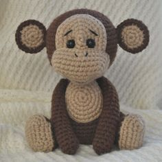 Use this easy Naughty Monkey Amigurumi Pattern to create a unique toy by your own hands. The size of finished monkey is about 23 cm height.