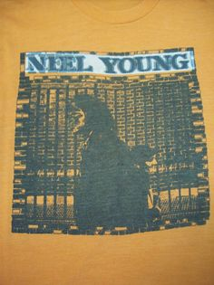 NEIL YOUNG VINTAGE CONCERT TOUR T-SHIRT 1970'S BUFFALO SPRINGFIELD CRAZY HORSE #GraphicTee
