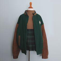 oversized vintage varsity jacket