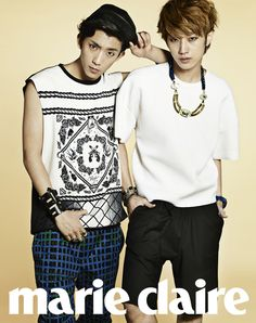 B1A4's Gongchan and Jinyoung // Marie Claire // May 2013