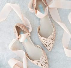 The Dreamiest Garden Wedding Shoes EVER