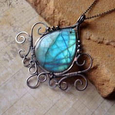 Thalassa of the Lonely Shores Magical Blue by SihayaDesigns, $92.00