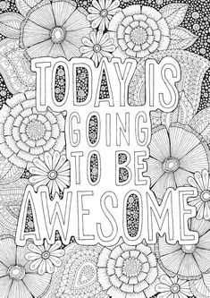 Awesome - Colour with Me HELLO ANGEL - coloring, design, detailed, meditation… Quote Coloring Pages, Colouring Pages, Printable Coloring Pages, Coloring Sheets, Coloring Books, Doodle Coloring, Mandala Coloring, Mindfulness Colouring, Doodle Quotes