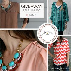 I just entered this giveaway from Collectively Yours and Jane.com! Go enter!! Such cute clothes :)