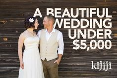 How to Have a Beautiful Wedding Under $5000