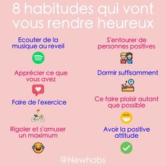 Vie Positive, Positive Attitude, Positive Affirmations, Self Development, Personal Development, Vie Motivation, French Expressions, Miracle Morning, Happy Minds