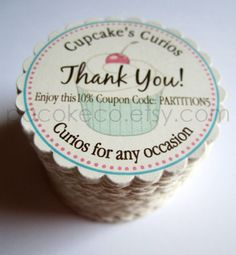 Have ALWAYS wanted a round biz card... how FAB are these?... me likeeee...100 Circle Business Cards, Hang Tags, Etsy Shop Tags, Shower Favor Tags, Mommy Calling Cards