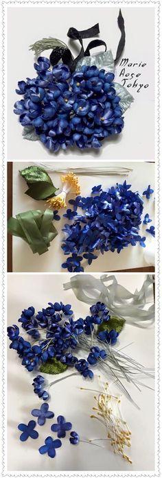 Yoko Asai - My site Diy Lace Ribbon Flowers, Ribbon Art, Big Flowers, Faux Flowers, Fabric Flowers, Paper Flowers, Diy Ribbon, Flower Crafts, Flower Art