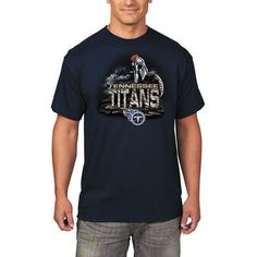 0cbfa6204 Men s Tennessee Titans Majestic Navy Four Man Front T-Shirt