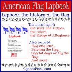 Free American Flag Lapbook