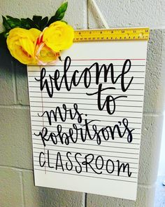 Welcome to my class room sign Hand Lettered cursive writing notebook paper teacher decor teachers welcome to my class room school year teacher gifts personalized teacher gifts Classroom Signs, Classroom Setup, Future Classroom, Welcome Door Classroom, English Teacher Classroom, Classroom Board, Elementary Teacher, Notebook Paper, Writing Notebook